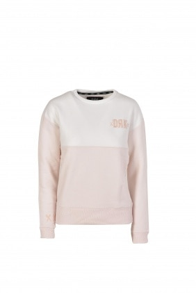 CREW NECK WITH BODY COLOUR BLOCK WOMEN